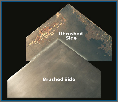 Slides Show how SCS removes surface rust from steel and protects steel from corrosion
