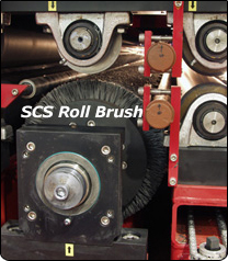 SCS cylinder brush cleans low carbon steel, leaving a smooth rust free surface